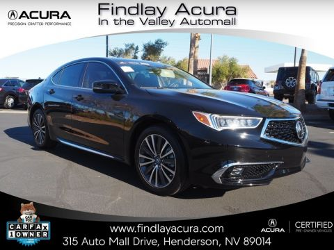 Certified Pre-Owned 2018 Acura TLX 3.5 V-6 9-AT P-AWS with Advance Package Front Wheel Drive 4DR